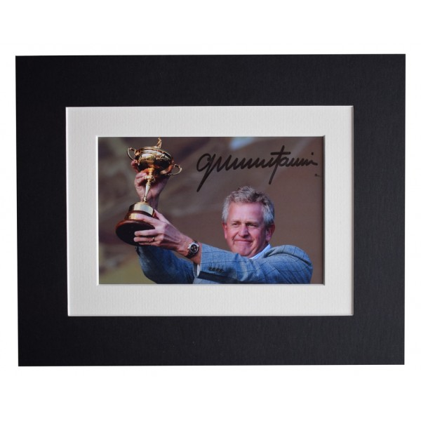 Colin Montgomerie Signed Autograph 10x8 photo display Golf Sport AFTAL  COA Memorabilia PERFECT GIFT