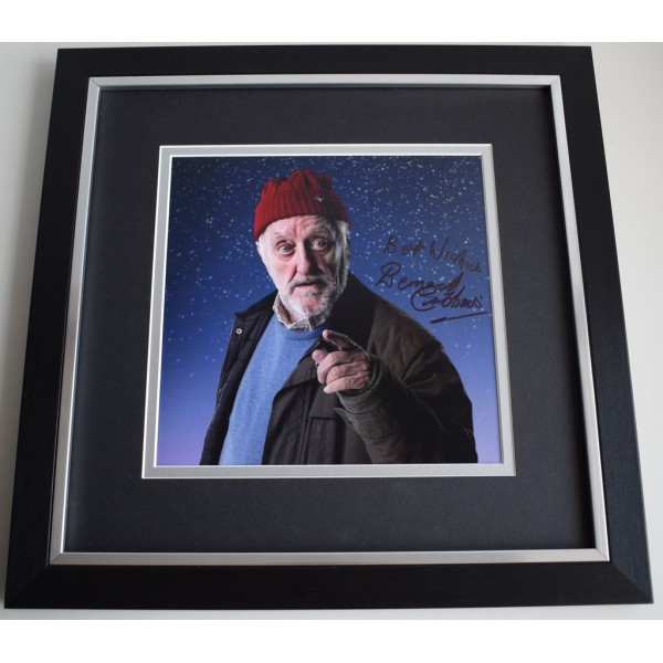 Bernard Cribbins SIGNED Framed LARGE Square Photo Autograph display Dr Who  AFTAL &  COA Memorabilia PERFECT GIFT
