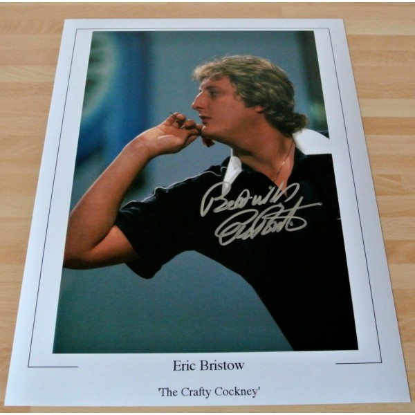 Eric Bristow SIGNED 16x12 Photo Autograph Darts Private Signing PROOF AFTAL & COA Memorabilia CLEARANCE SALE