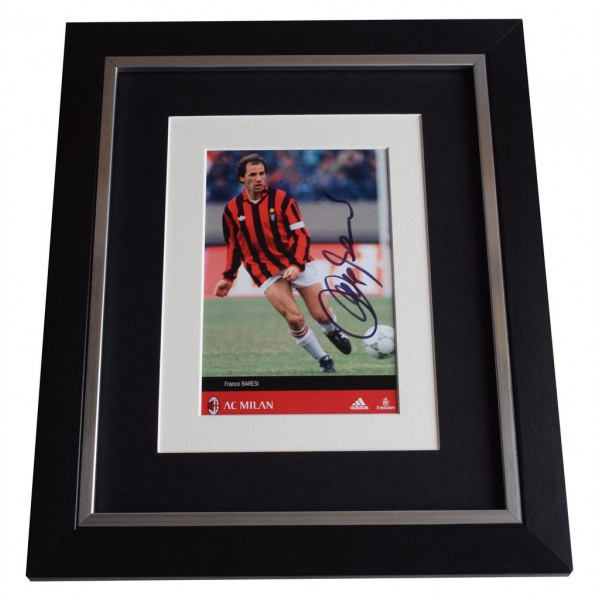 Franco Baresi SIGNED 10x8 FRAMED Photo Autograph Display A.C. Milan   AFTAL  COA Memorabilia PERFECT GIFT