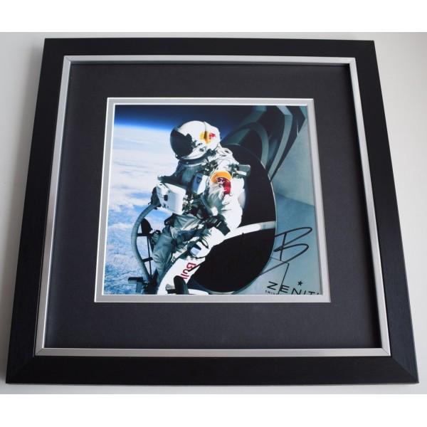 Felix Baumgartner SIGNED Framed LARGE Square Photo Autograph display Space AFTAL &  COA Memorabilia PERFECT GIFT
