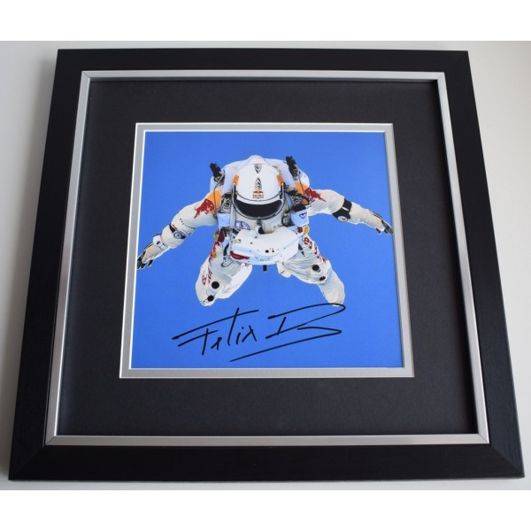 Felix Baumgartner SIGNED Framed LARGE Square Photo Autograph display Space AFTAL &  COA Memorabilia PERFECT GIFT