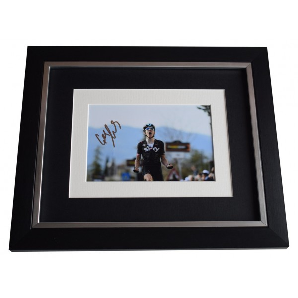 Geraint Thomas SIGNED 10x8 FRAMED Photo Autograph Display Cycling Sport     AFTAL  COA Memorabilia PERFECT GIFT