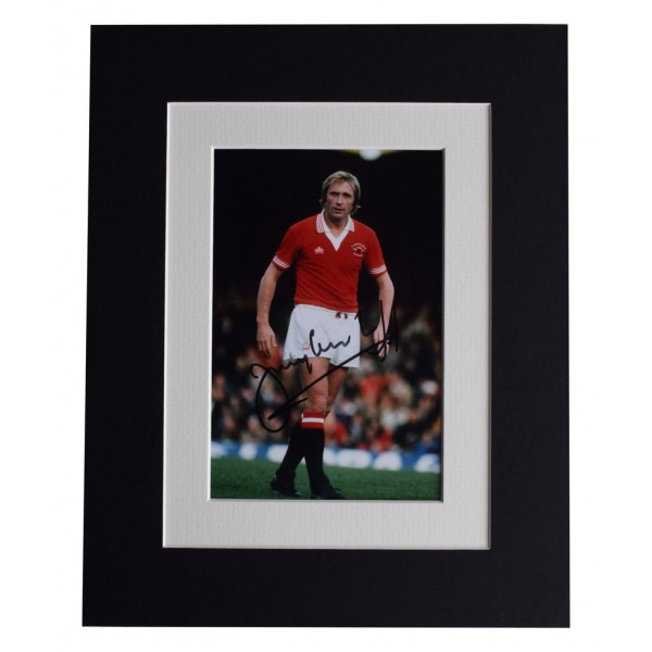 Jimmy Greenhoff Signed Autograph 10x8 photo display Manchester United  AFTAL  COA Memorabilia PERFECT GIFT
