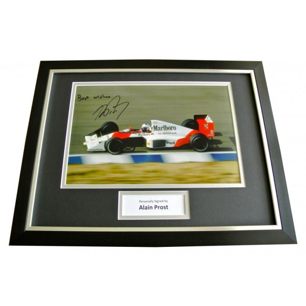 ALAIN PROST HAND SIGNED & FRAMED AUTOGRAPH PHOTO DISPLAY FORMULA 1 RACING & COA   PERFECT GIFT