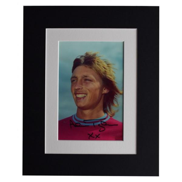 Alan Taylor Signed Autograph 10x8 photo display West Ham Football  AFTAL  COA Memorabilia PERFECT GIFT