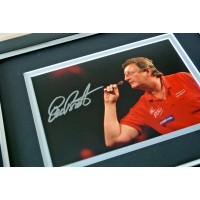 Eric Bristow Signed 10x8 FRAMED Photo Autograph Display Darts Signing PROOF COA PERFECT GIFT