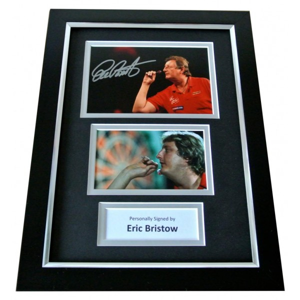 Eric Bristow Signed A4 FRAMED Photo Autograph Display Darts Signing PROOF & COA PERFECT GIFT