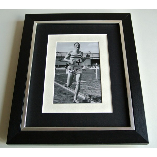 Roger Bannister SIGNED 10x8 FRAMED Photo Autograph Display 4 Minute Mile & COA   PERFECT GIFT