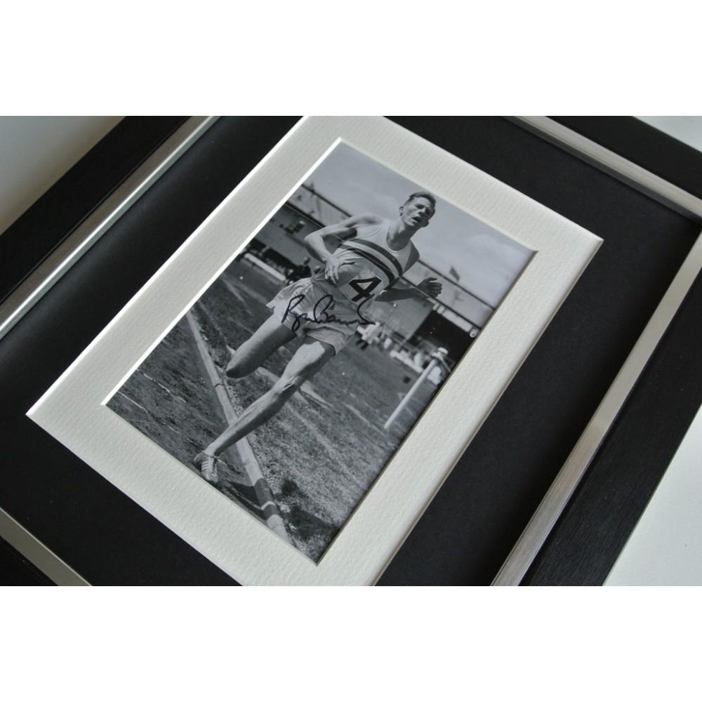 Roger Bannister SIGNED 10x8 FRAMED Photo Autograph Display ...