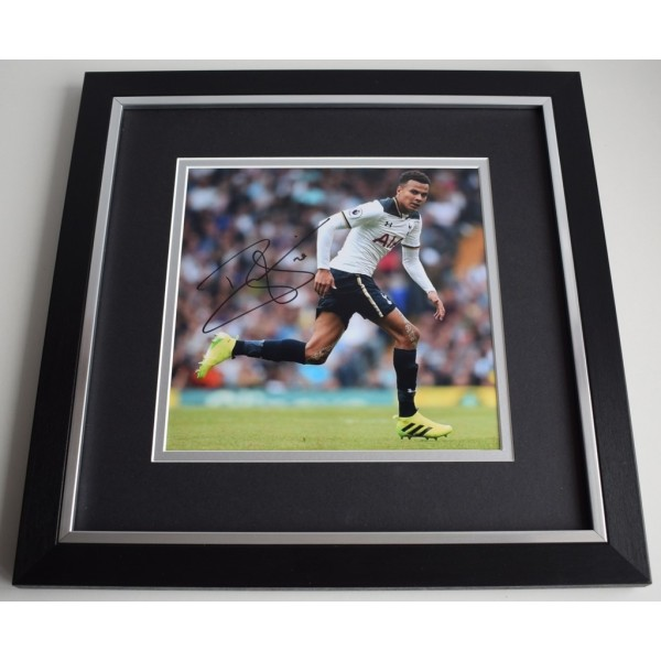 Dele Alli SIGNED Framed LARGE Square Photo Autograph display Tottenham Hotspur  AFTAL &  COA Memorabilia PERFECT GIFT
