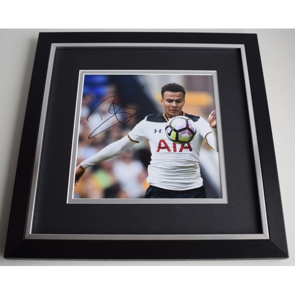 Dele Alli SIGNED Framed LARGE Square Photo Autograph display Tottenham Hotspur  AFTAL &  COA Memorabilia PERFECT GIFT