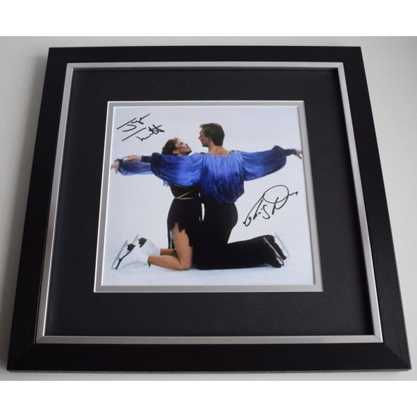Jayne Torvill & Chris Dean SIGNED Framed LARGE Square Photo Autograph display   AFTAL &  COA Memorabilia PERFECT GIFT