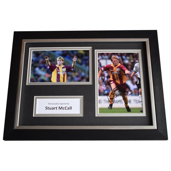 Stuart McCall Signed A4 FRAMED Autograph Photo Display Bradford Football AFTAL  COA Memorabilia PERFECT GIFT