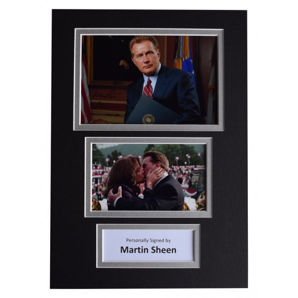 Martin Sheen Signed Autograph A4 photo display The West Wing TV  AFTAL  COA Memorabilia PERFECT GIFT