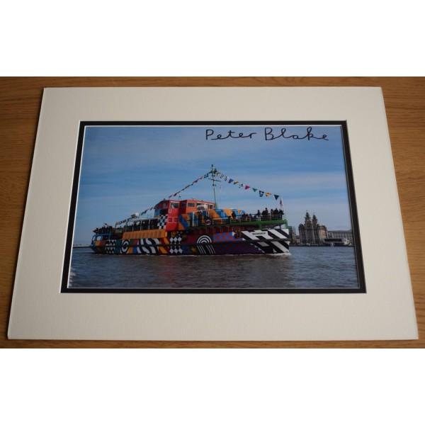 Peter Blake SIGNED autograph 16x12 LARGE photo display Beatles Music Art AFTAL & COA Memorabilia PERFECT GIFT