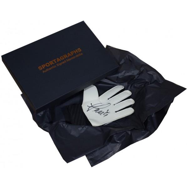 Manuel Almunia SIGNED Goalkeeper Glove Autograph Gift Box Arsenal Football  AFTAL &  COA Memorabilia PERFECT GIFT