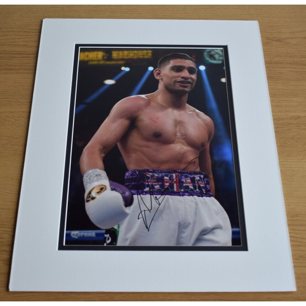 Amir Khan SIGNED autograph 16x12 LARGE photo display Boxing Sport  AFTAL & COA Memorabilia PERFECT GIFT