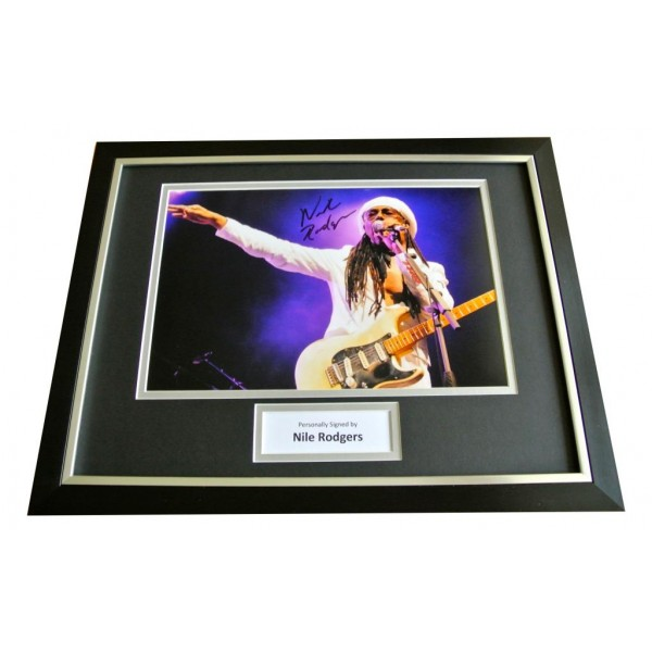 NILE RODGERS SIGNED & FRAMED AUTOGRAPH PHOTO DISPLAY CHIC LE FREAK POP/ROCK  COA     PERFECT GIFT