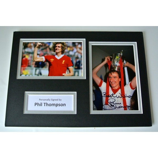 Phil Thompson SIGNED autograph A4 Photo Mount Display Liverpool Football & COA        PERFECT GIFT