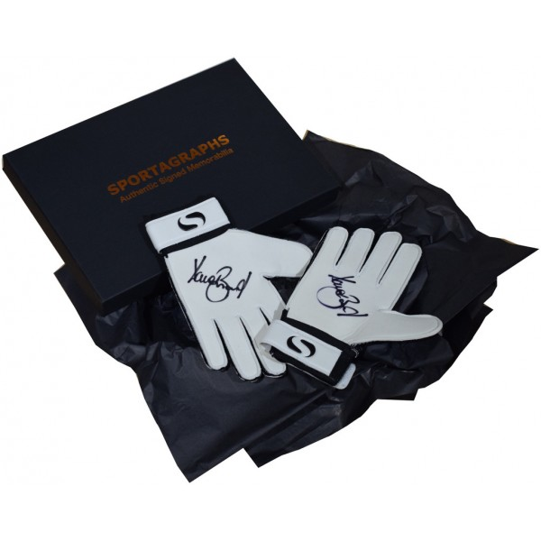 Dave Beasant SIGNED Pair Goalkeeper Gloves Autograph Gift Box Wimbledon PROOF  AFTAL &  COA Memorabilia PERFECT GIFT