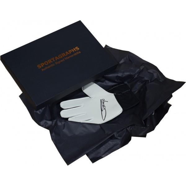 Jim Montgomery SIGNED Goalkeeper Glove Autograph Gift Box Sunderland PROOF  AFTAL &  COA Memorabilia PERFECT GIFT