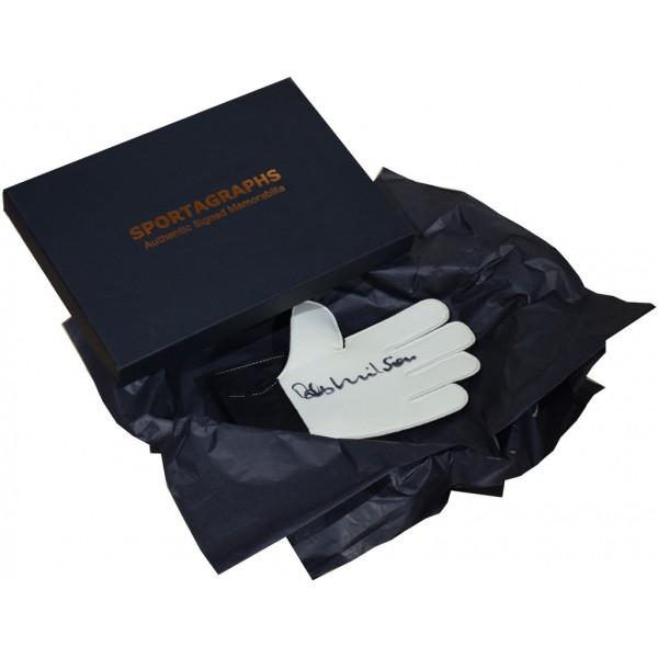 Bob Wilson SIGNED Goalkeeper Glove Autograph Gift Box Arsenal Football PROOF  AFTAL &  COA Memorabilia PERFECT GIFT
