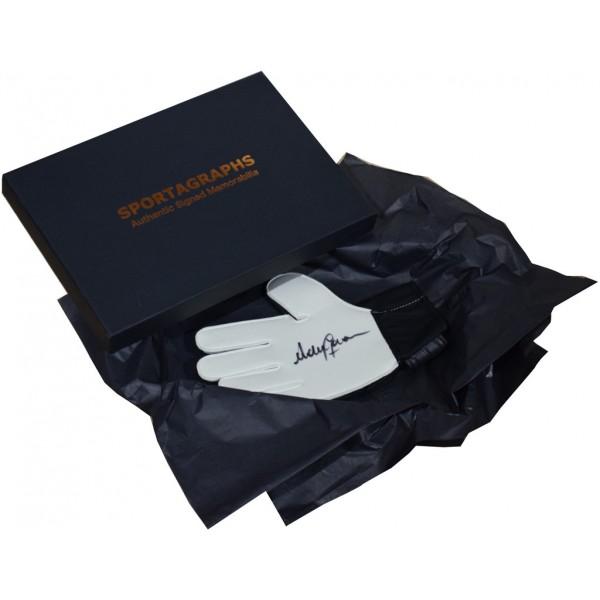 Andy Goram SIGNED Goalkeeper Glove Autograph Gift Box Rangers Football PROOF AFTAL &  COA Memorabilia PERFECT GIFT