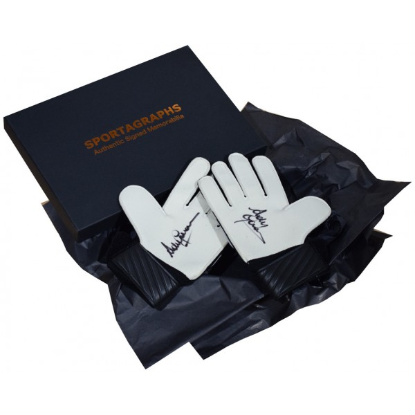 Andy Goram SIGNED Pair Goalkeeper Gloves Autograph Gift Box Rangers PROOF AFTAL &  COA Memorabilia PERFECT GIFT