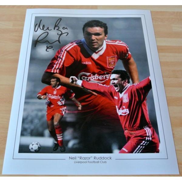 Neil Ruddock SIGNED 16x12 Photo Autograph Darts Liverpool Signing PROOF & COA AFTAL MEMORABILIA