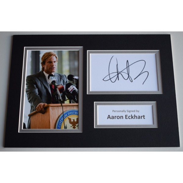 Aaron Eckhart Signed Autograph A4 photo display Dark Knight Batman Film  AFTAL  COA Memorabilia PERFECT GIFT