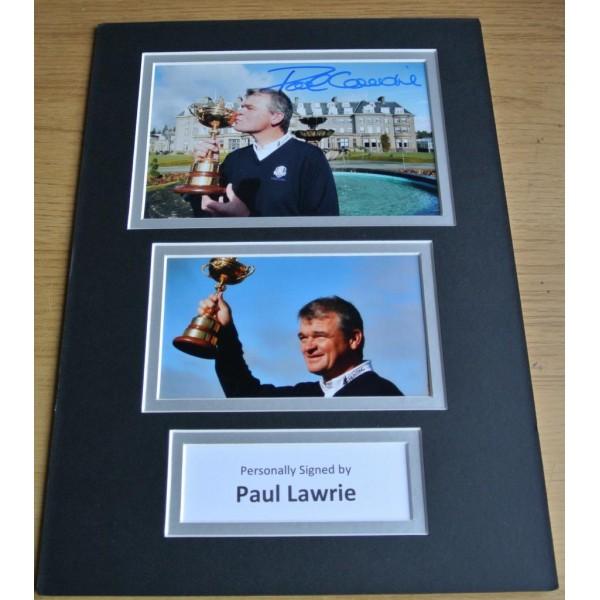 Paul Lawrie SIGNED autograph A4 Photo Mount Display Golf    AFTAL & COA Memorabilia    PERFECT GIFT
