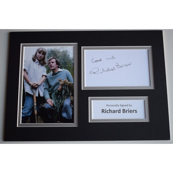 Richard Briers Signed Autograph A4 photo display TV The Good Life AFTAL  COA Memorabilia PERFECT GIFT