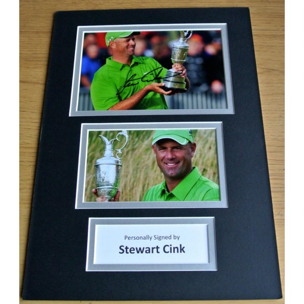 Stewart Cink SIGNED autograph A4 Photo Mount Display Golf  AFTAL & COA Memorabilia PERFECT GIFT
