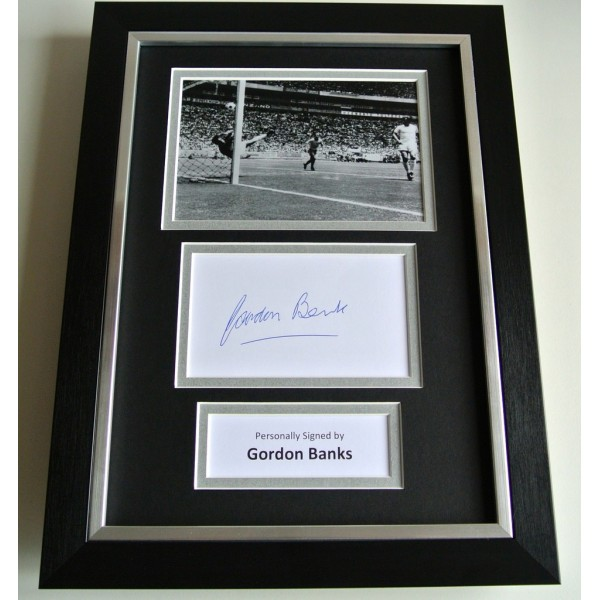 Gordon Banks SIGNED A4 FRAMED Photo Autograph Display England World Cup 1966 COA         PERFECT GIFT