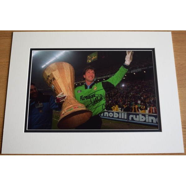 Walter Zenga SIGNED autograph 16x12 photo display Inter Milan Italy Football   AFTAL  COA Memorabilia PERFECT GIFT