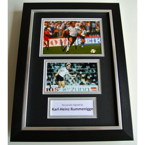 Karl Heinz Rummenigge SIGNED A4 FRAMED Photo Autograph Display Germany & COA      PERFECT GIFT