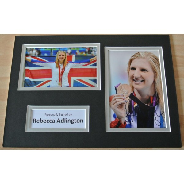 Rebecca Adlington SIGNED autograph A4 Photo Mount Display Olympic Swimming  AFTAL & COA Memorabilia    PERFECT GIFT