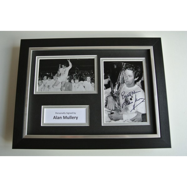 Alan Mullery SIGNED A4 FRAMED Photo Autograph Display Tottenham Hotspur & COA           PERFECT GIFT