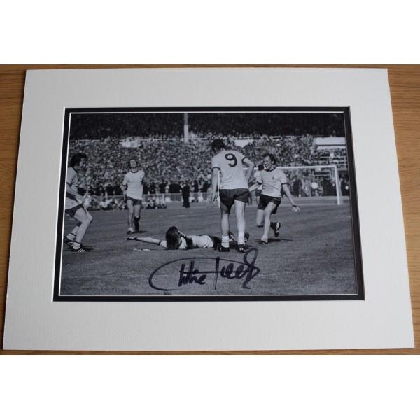 Charlie George SIGNED autograph 16x12 photo display Arsenal Football  AFTAL  COA Memorabilia PERFECT GIFT