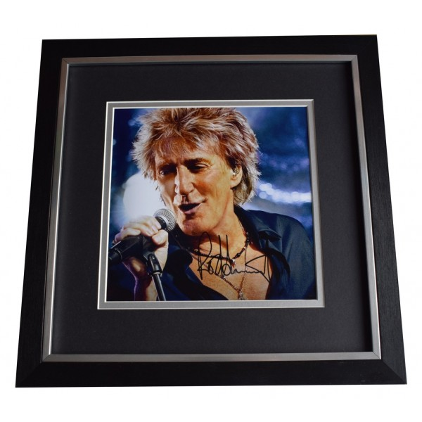 Rod Stewart SIGNED Framed LARGE Square Photo Autograph display Music  AFTAL  COA Memorabilia PERFECT GIFT