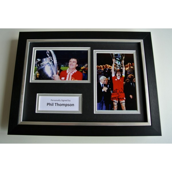 Phil Thompson SIGNED A4 FRAMED Photo Autograph Display Liverpool Football & COA PERFECT GIFT