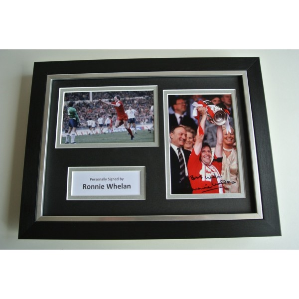 Ronnie Whelan SIGNED A4 FRAMED Photo Autograph Display Liverpool Football & COA           PERFECT GIFT