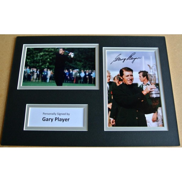 GARY PLAYER HAND SIGNED AUTOGRAPH A4 PHOTO DISPLAY GOLF CHAMPION GIFT & COA PERFECT GIFT