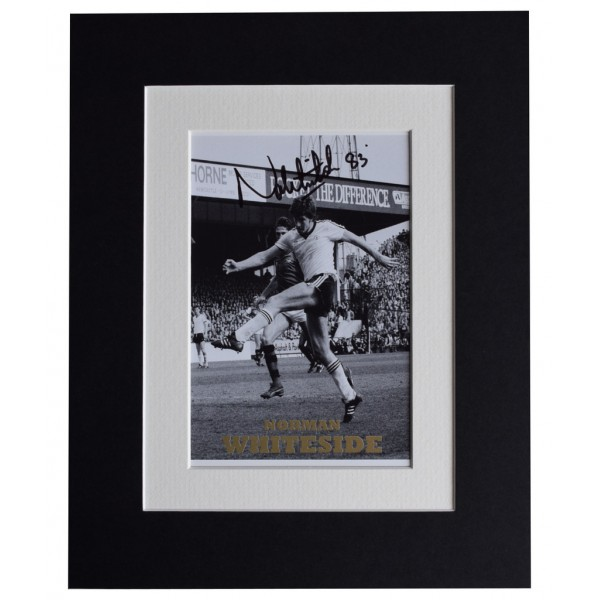 Norman Whiteside Signed Autograph 10x8 photo display Manchester United AFTAL  COA Memorabilia PERFECT GIFT