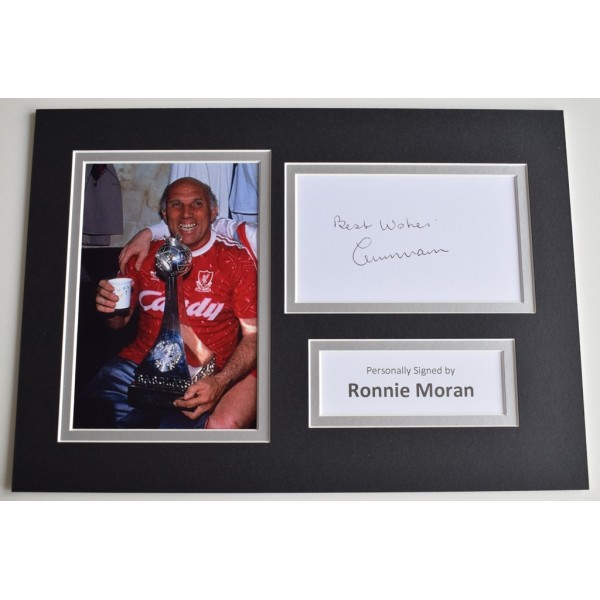 Ronnie Moran Signed Autograph A4 photo display Liverpool Football  AFTAL  COA Memorabilia PERFECT GIFT