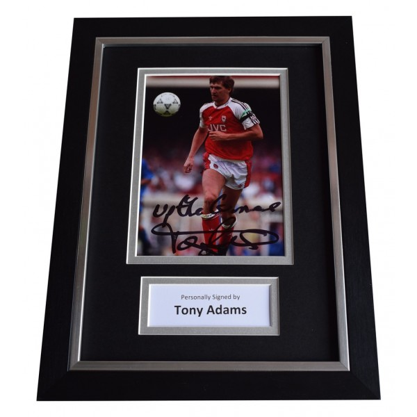 Tony Adams Signed A4 FRAMED Autograph Photo Display Arsenal Football     AFTAL  COA Memorabilia PERFECT GIFT