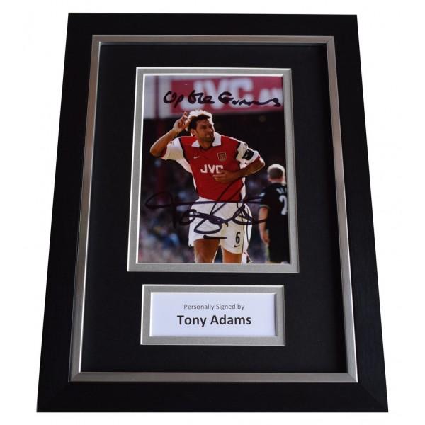 Tony Adams Signed A4 FRAMED Autograph Photo Display Arsenal Football     AFTAL  COA Memorabilia PERFECT GIFT