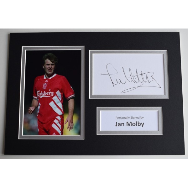 Jan Molby Signed Autograph A4 photo display Liverpool Football Sport    AFTAL  COA Memorabilia PERFECT GIFT