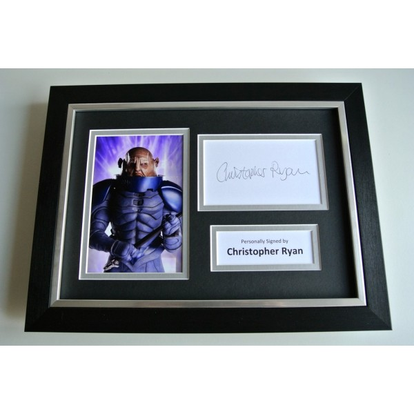 Christopher Ryan SIGNED A4 FRAMED Photo Autograph Display TV Doctor Who & COA  PERFECT GIFT